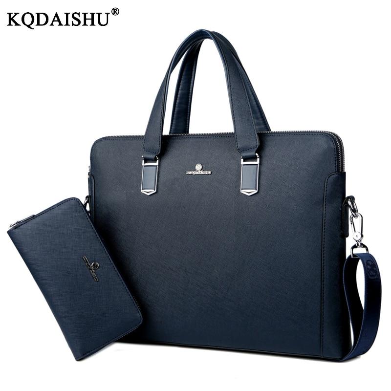 KUQIDAISHU New Luxury Brand PU Leather Men Laptop Bag Briefcase Fashion Men's Business Bags Casual Leather Messenger Bag for Men цены онлайн
