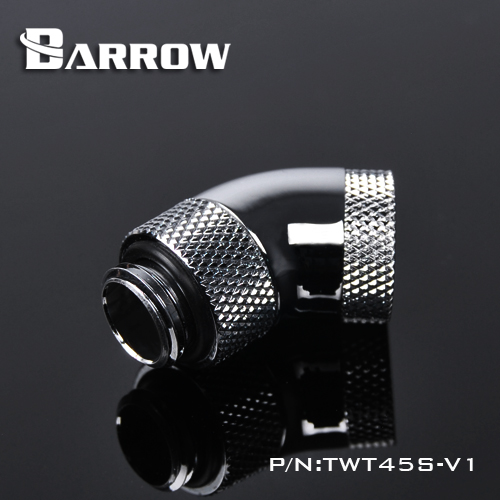 2pcs Barrow G1/4'' 45 Degree Rotary Fittings With Compression Adapter Cooling Pc Gadget Gold Black White Silver ,TWT45S-V1