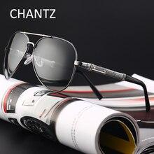 Retro Photochromic Polarized Sunglasses Men Reflective Lens Brand Driving Sun Glasses for Man UV400 Metal Lunette Soleil Homme