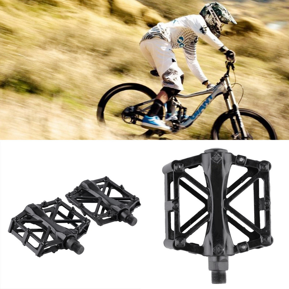 1 par montaña aleación de aluminio plataforma plana bicicleta ciclismo Riding pedales pedal nuevo