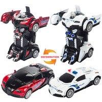 Novela Transformação Robô Liga Carro De Metal Crianças Figuras de Ação Brinquedo Iluminação Deformação Robô Brinquedos Clássicos para Presente Das Crianças