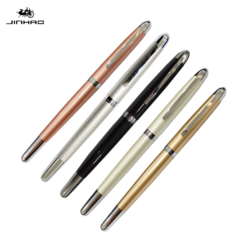 0.38mm standard Jinhao fountain pen Business students financial iridium silver clip metal fountain pen jinhao office supplies hero 310b metal fountain pen
