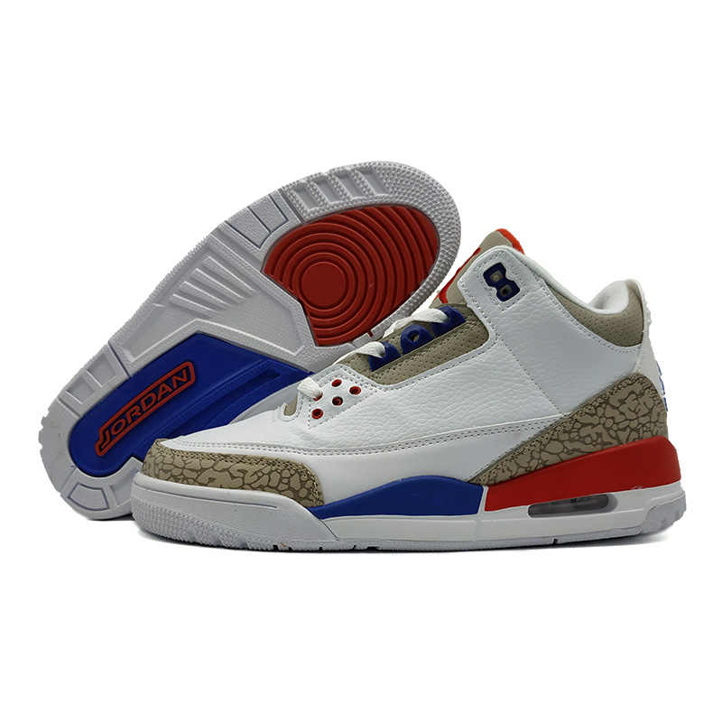 05ae1b9daffb Jordan 3 Men Basketball Shoes Katrina White Cement Black Cat Bred Military  Blue Pure Money Fire