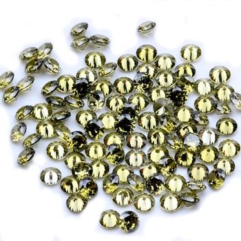 1000 шт. AAAAA + 0,8-4 мм CZ Круглой Огранки Камня Бисер оливковое Цвет кубического циркония синтетических камней для ювелирные изделия