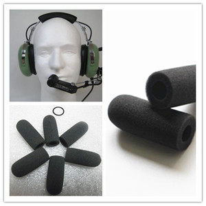 Image 2 - Linhuipad 5pcs Aviation soft foam mic windscreen microphone covers Sponge windshield fit on David Clark M 7 headset microphone