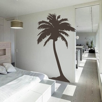 Free Shipping Large Palm tree wall sticker , living room tropical wall art house decoration tall palm tree