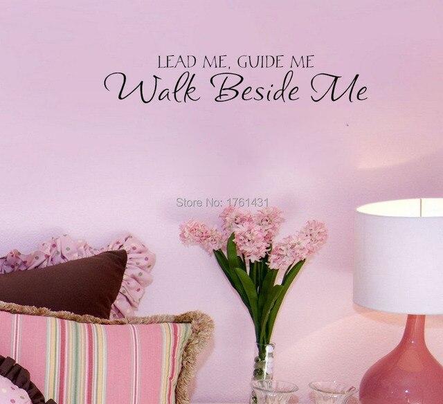 Lead Me Gids Me Walk Bijbel vinyl muur citaat woondecoratie ...