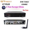 GTMEDIA V7 PLUS с бесплатным Cccam Clines для 1 года Испания Европа DVB-T2 DVB-S2 рецептор H.265 спутниковый ресивер vs Freesat V7 V8