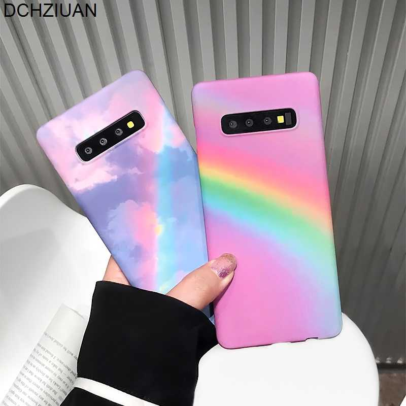 DCHZIUAN Rainbow Phone Cases For Samsung Galaxy S10 S10 Plus S8 S9 Plus Note 8 Note 9 Case Matte Hard Plastic Back Cover Coque