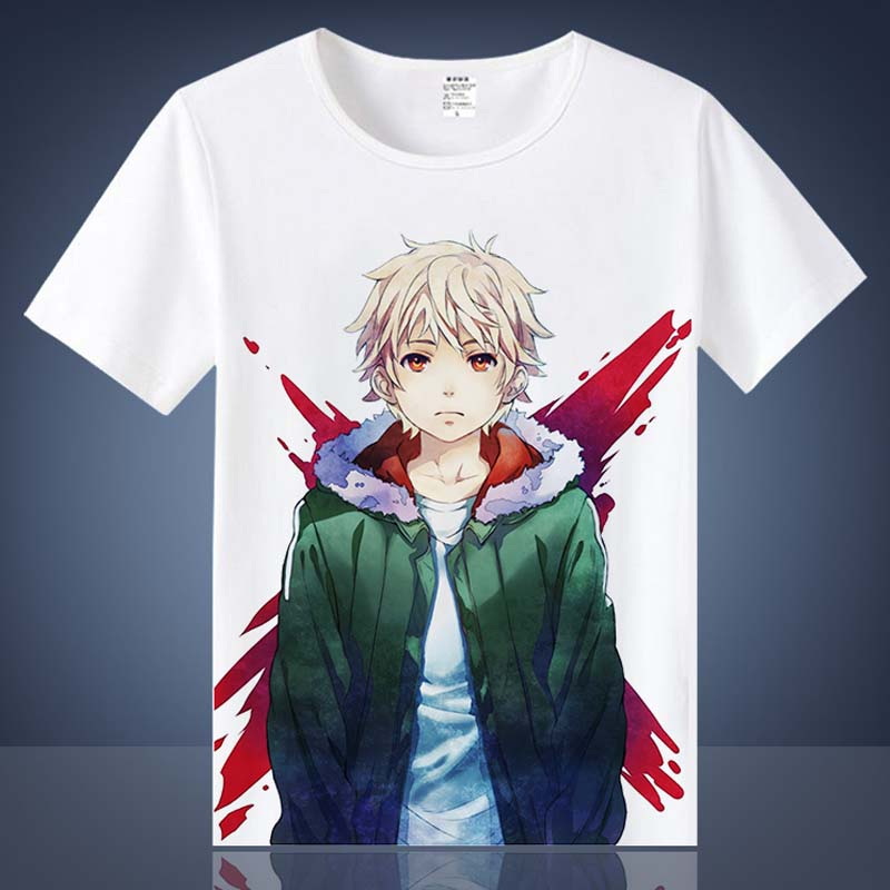 Coshome Noragami Yato T shirts Cosplay Costumes Men Women Cotton T-shirts Adult Anime Tops Short Sleeves Summer Tees (6)