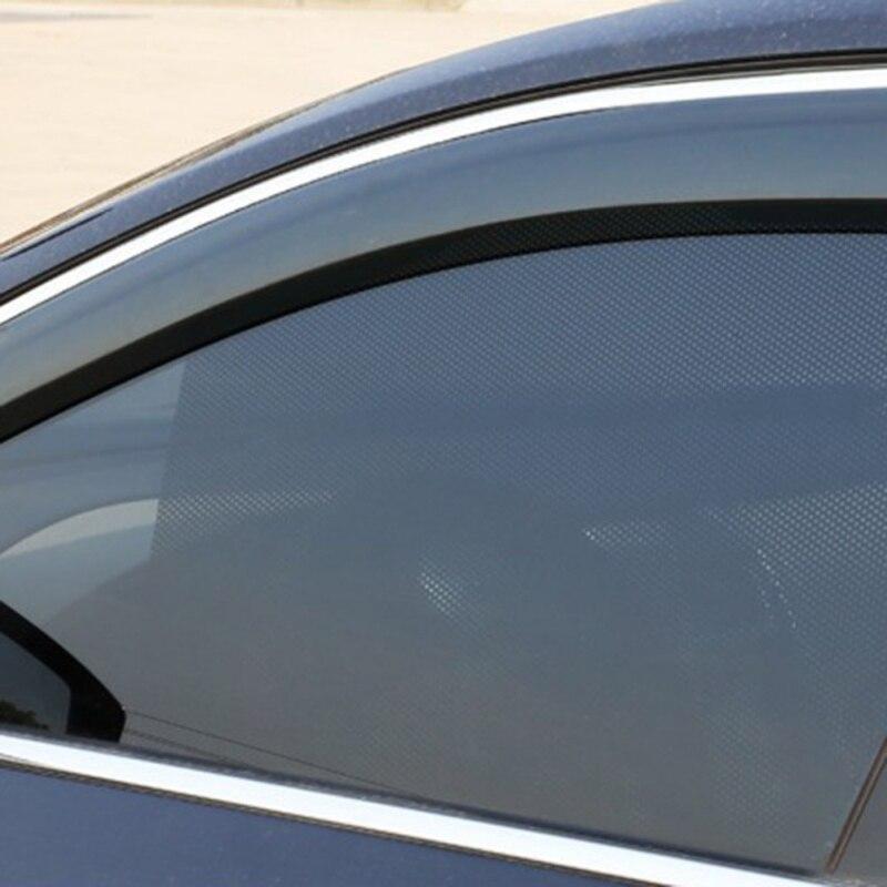 2 pièces Auto Care noir côté voiture pare-soleil fenêtre arrière pare-soleil couverture bloc statique s'accrocher visière bouclier écran accessoires
