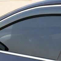 2Pcs Auto Care Black Side Car Sun Shades Rear Window Sunshades Cover Block Static Cling Visor Shield Screen Accessories