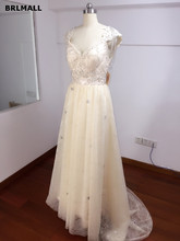 2017 Sexy Lace Wedding Dresses Sweetheart Illusion A Line Tulle Bridal Gowns Custom Made Backless Court Train Real Picture
