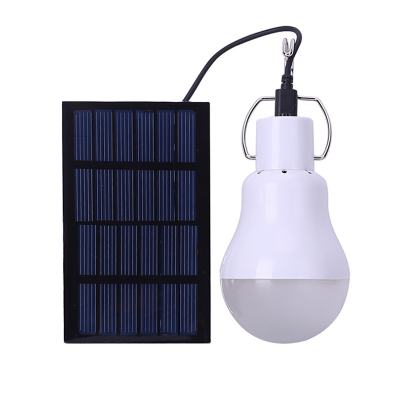 Portable Solar Power LED Bulb Lamp with Solar Panel 1.2W/6V 110 Lumens Outdoor Camping Tent Fishing Emergency Lamp Lighting solar panel powered led solar light bulb portable outdoor lighting camping hiking tent fishing lamp
