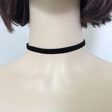 Moda de veludo preto declaração choker colar de corda de veludo colar estilo punk moda jóias para a mulher