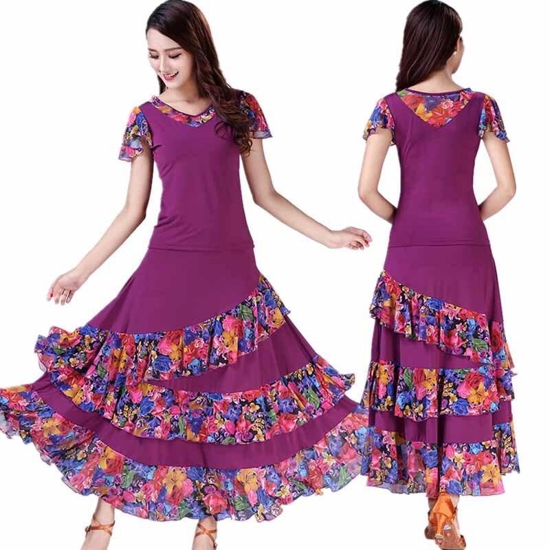 ballroom dance dress standard dance costume for lady competition waltz dress tango dancing wear grils trot dancewear L-XXL (3)