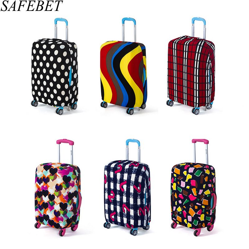 SAFEBET Elastic Luggage Protective Cover For 18 to30 Inch Cases suitcase Dust Brand Bags Case Travel Accessories Supplies