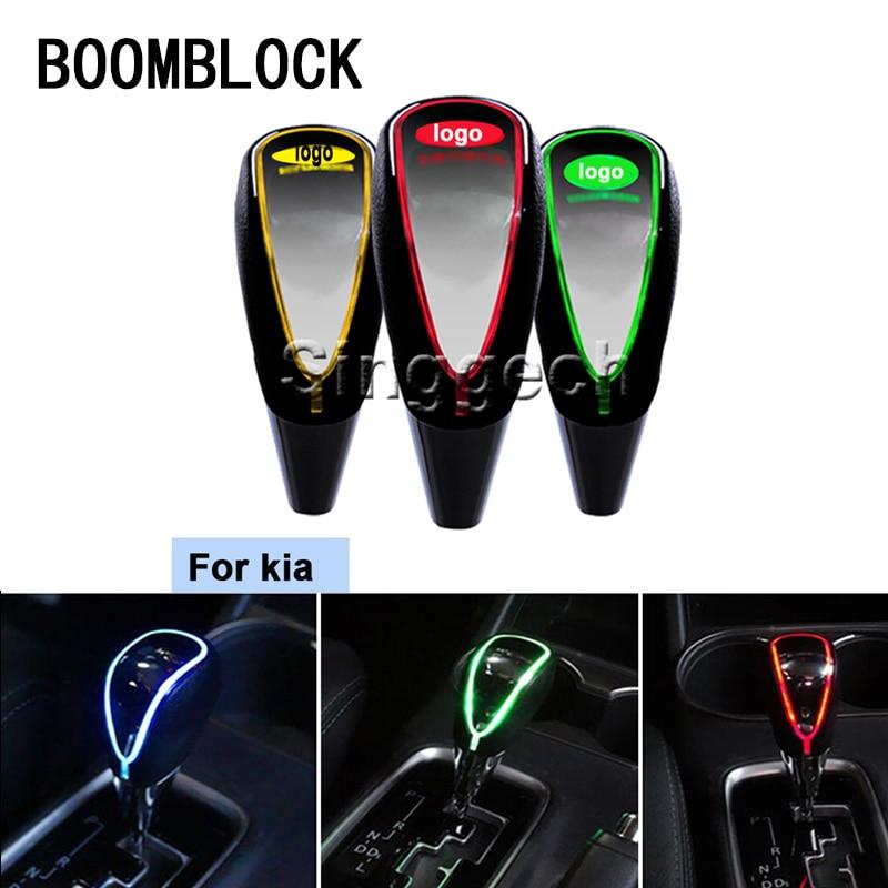 BOOMBLOCK Auto Gear Shift Knob Touch Sensor Colourful LED Light 5/6 Speed For Kia Rio K2 Ceed Soul Cerato Sorento Sportage