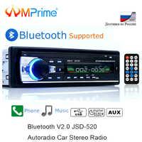 AMPrime Bluetooth Autoradio Car Stereo Radio FM Aux del Ricevitore di Ingresso SD USB JSD-520 12V In-dash 1 din auto MP3 Multimedia Player