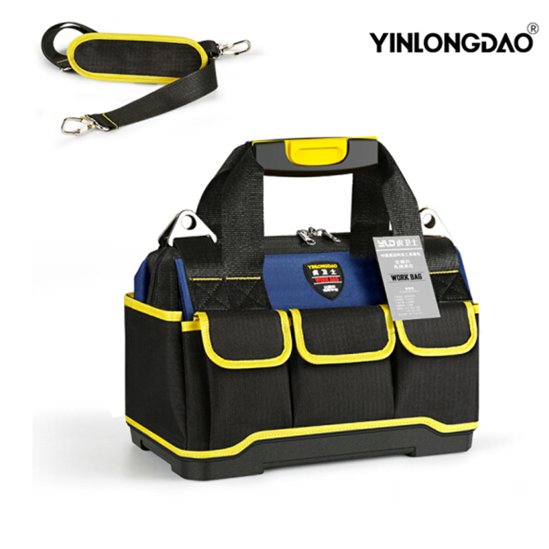 Hard Bottom Tool Bag Electrician 1680 D Oxford Cloth Tools Bag Professional  Tools Organizer Work Bag Waterproof Toolkit