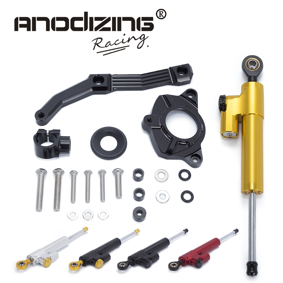 Motorcycle CNC Steering Damper Stabilizerlinear Reversed Safety Control with Bracket For KAWASAKI Z1000 2010 2011 2012 2013 gt motor motorcycle cnc steering damper stabilizerlinear reversed safety control with bracket for yamaha mt09 mt 09 fz 09 13 17