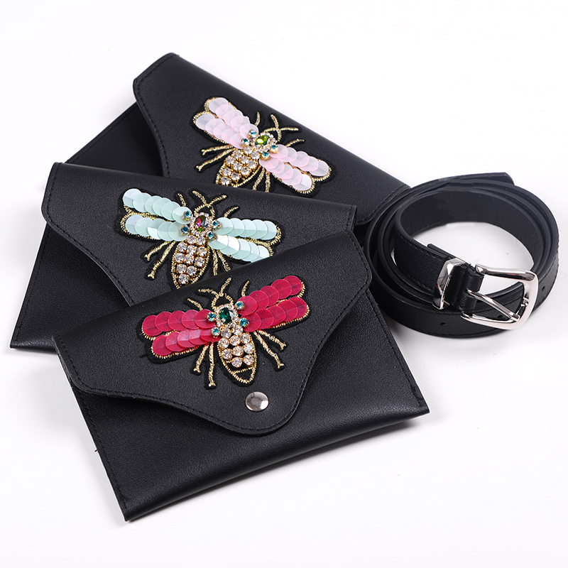 waist bag funny pack fashion Packs belt bag dragonfly waist bag leather chest handbag fanny pack bum 2018 bag for woman
