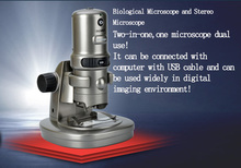 Sale 10x 60x 200x LED Lighted Illumination Student Education Stereo Biological Two-in-one USB Digital Electron Microscope