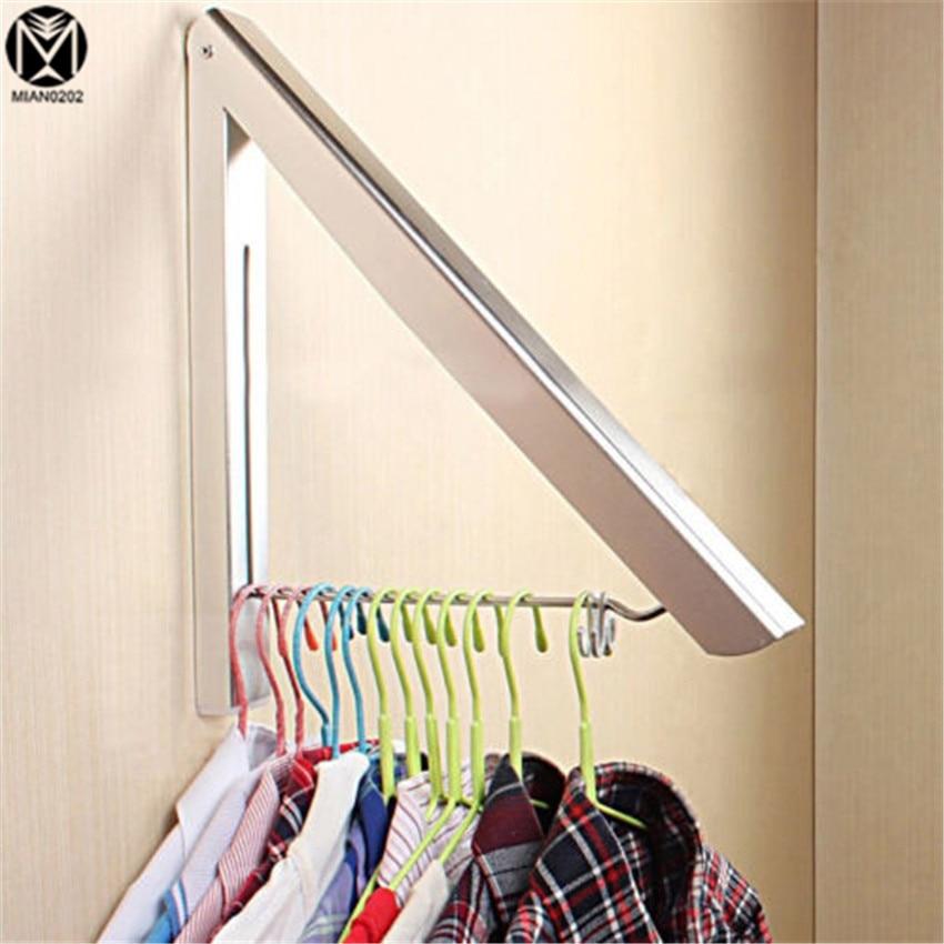 Stainless <font><b>Steel</b></font> Wall Bathroom Shelves Hanger Retractable Magic Foldable Drying Rack Waterproof Clothes <font><b>Towel</b></font> Rack Shelves