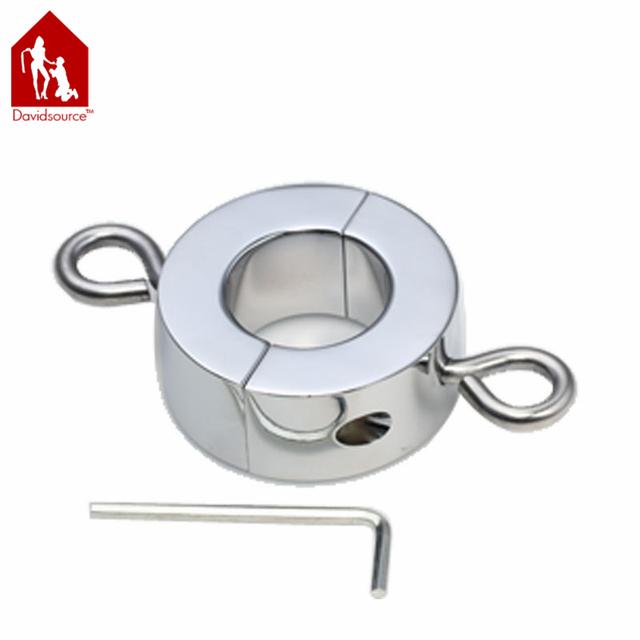 Davidsource brilhante do metal do caralho anel (25mm de espessura) com anel de puxar ereção enhancing pesado ajustável anel do pénis dos homens brinquedo do sexo