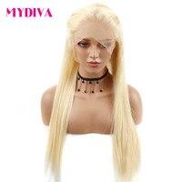 13x3 Синтетические волосы на кружеве человеческих волос парики блондинку прямо кружева парик предварительно сорвал с натуральных волос 150% п