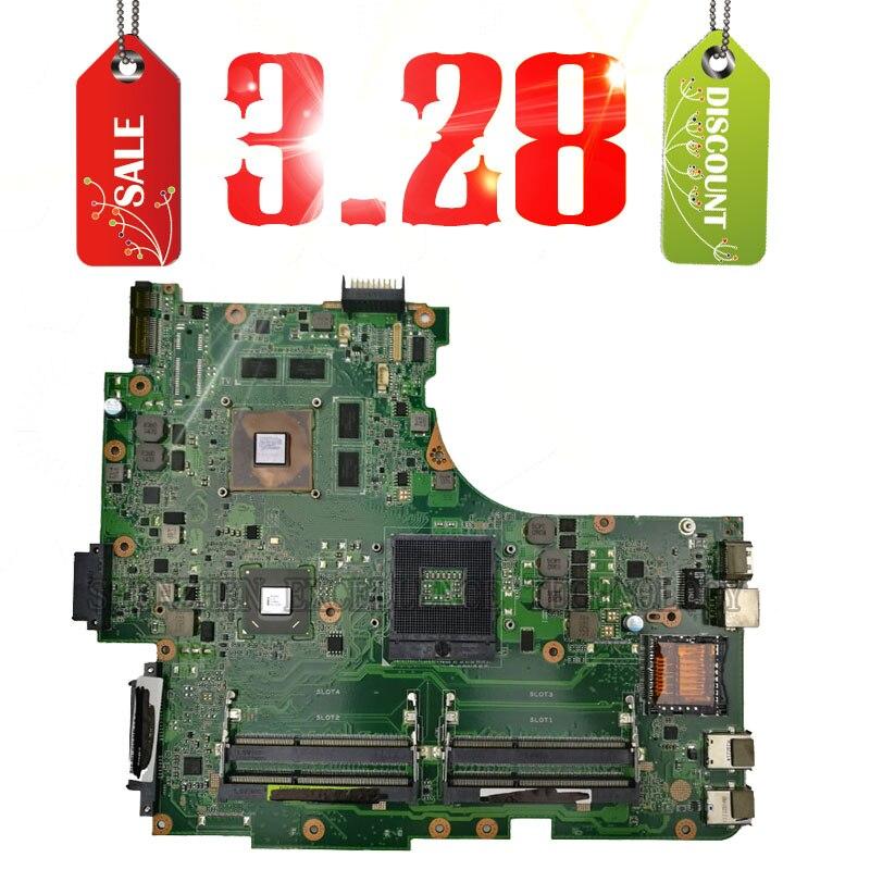 For ASUS N53SV N53SM N53SN Original laptop motherboard nvidia GT540M and 4 RAM slots Rev 2.2 2.0 2GB tested well