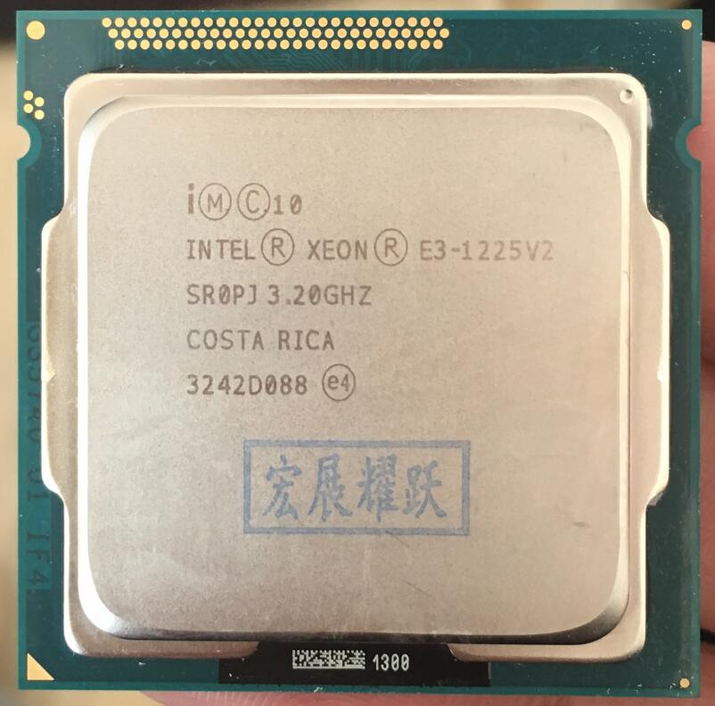 Intel Xeon Processor E3 1225 v2 E3-1225 v2 (8M Cache, 3.2 GHz) Quad-Core Processor LGA1155 Desktop CPU intel xeon x5482 socket lga775 cpu 3 2ghz 12mb l2 cache quad core fsb 1333 processor without adapters