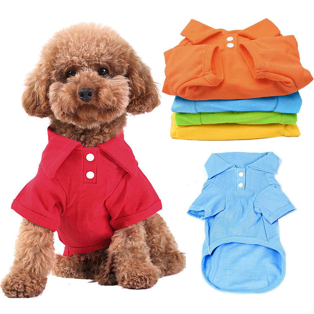 New Keebgyy Pet Puppy Summer Hoodies Shirt Small Dog Cat Pet Clothes Costume Apparel T-Shirt puppy vest clothing