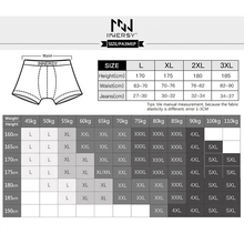 Innersy 2017 Shorts Mens 4Pcslot Underwear Soft Boxers modal Boxer Men Solid Boxer Shorts Plus Size Boxers Mens Underwear Lot