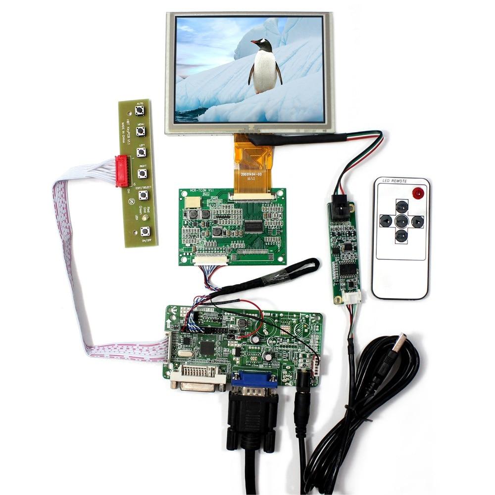 DVI VGA LCD Controller Board With 5inch 640x480 ZJ050NA-08C Touch LCD Screen материнская плата asus h81m r c si h81 socket 1150 2xddr3 2xsata3 1xpci e16x 2xusb3 0 d sub dvi vga glan matx