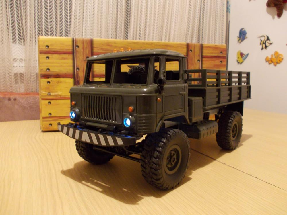 WPL B-24 GAZ-66 1:16 RC Climbing Military Truck Mini 2.4G 4WD Off-Road RC Cars Off-Road Racing Car RC Vehicles RTR Gift Toy