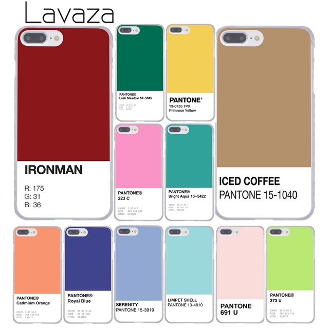 the best attitude b16fc 368f2 US $2.55 |Lavaza Caliente Pantone Hard Cover Case for iPhone X XS Max XR 6  6S 7 8 Plus 5 5S SE 5C 4S 10 Phone Cases 7Plus 8Plus-in Half-wrapped Case  ...