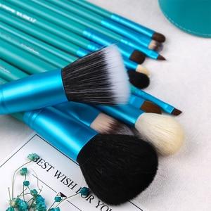 Image 3 - Бренд Zoreya, 12 шт., натуральная козья шерсть, мягкий набор кистей для макияжа, Профессиональный набор кистей для макияжа, шерстяные волокна, инструменты для животных, оптовая продажа