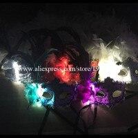 Sıcak Satış LED Işık Masquerade Maske/Parlayan DJ Maskesi/Parti Kraliçe Maske/Işık Takım Dans Aksesuarları Cadılar Bayramı özelleştirilebilir