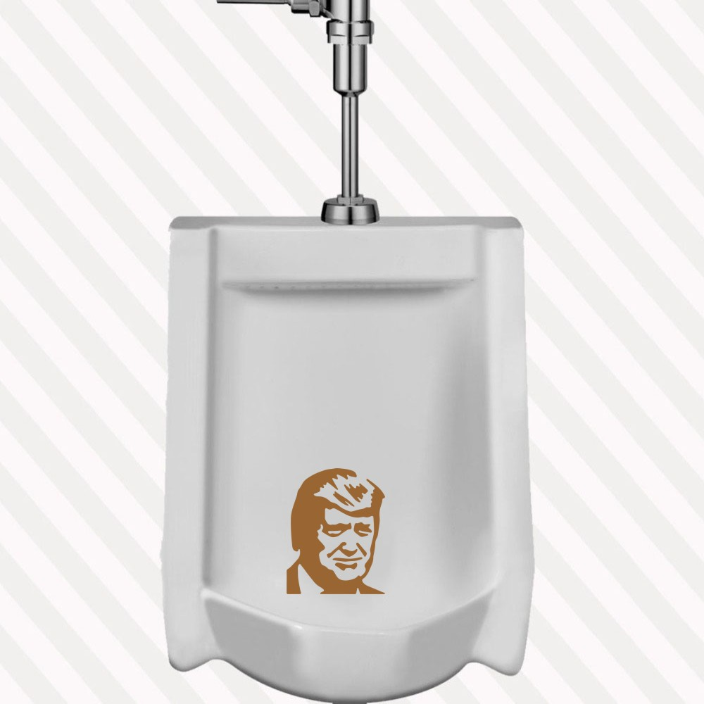 Literally PISS ON TRUMP Toilet Target Pee Vinyl Decal funny Toilet sticker Switch Sticker DIY Home Decorastion Mural A-136 翻轉 貓 砂 盆