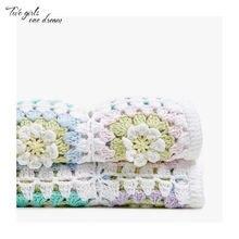 Одеяло ручной работы для вязания крючком подушка войлочные красочные