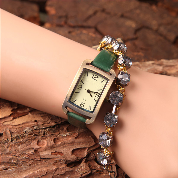 Hot Sale Women Bracelet Watch Female Quartz Women Watches Fashion Clock Ladies Watch Waterproof Vintage Watch For Girls Square