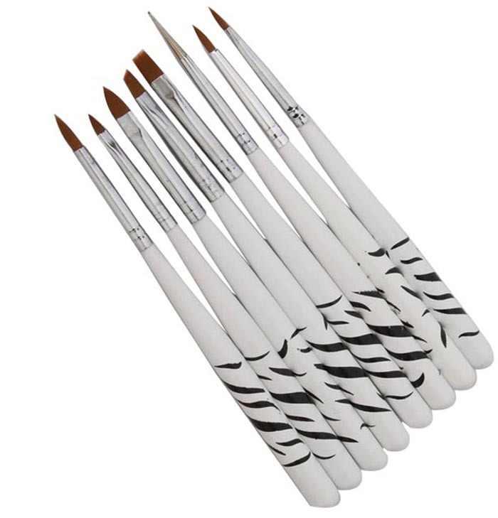 2017 עיצוב חדש 8 יח'\סט Nail Art אקריליק מניקור UV ג 'ל מברשת מנקדים ציור ציור פולני מברשת פן סט כלי