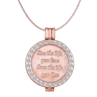 My Coin Frame Necklace Pendant Live The Life You Love Love The Life You Live Double