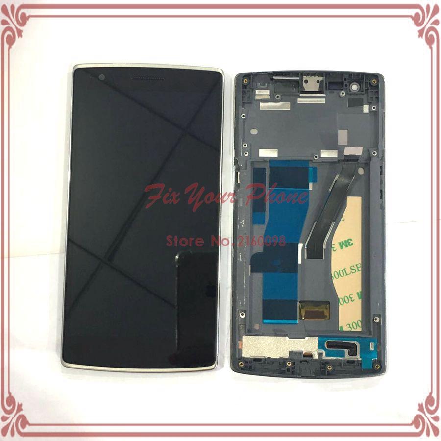 Prix pour LCD d'origine Pour Oneplus One 1 + A0001 LCD Affichage à L'écran Tactile Digitizer Assemblée avec Cadre Remplacement