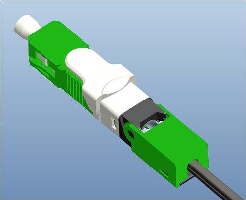 O Envio gratuito de 100 pçs/lote ESC250D FTTH SC APC e UPC SC Single-Mode De Fibra Óptica Novo Modelo