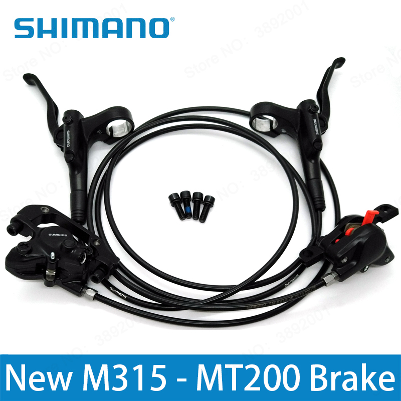 SHIMANO M315 MT200 2018 NEW BR BL MT200 Hydraulic Disc Brake MTB Mountain Bike Calipers Left & Right Lever 800/1450mm Hot 2016 new shimano m4050 hydraulic brake intergrate with 3x9s 27s shift lever mtb mountain bike calipers left