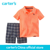 Carters Twinset T Shirt Short Sleeve Polo Shorts Baby Boy Clothing 229g123