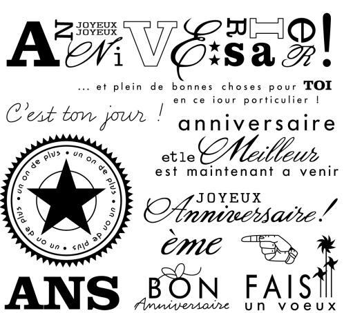 Французский/С Днем Рождения!/прозрачный силиконовый штамп/печать для скрапбукинга своими руками/декоративный прозрачный штамп для фотоаль...