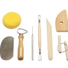 Ceramic Art Tools 1 Set Wood Carving Tool Kit Sculpture Clay Decorative Concrete Molds Set Pottery Tools.
